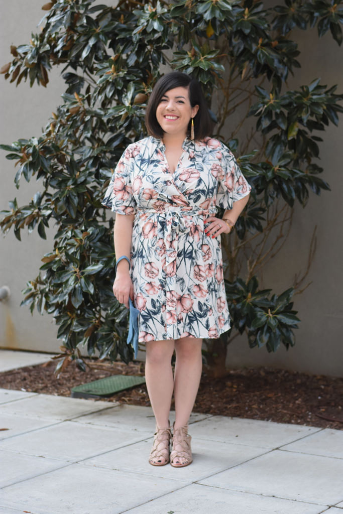 Floral Wrap Dress-@headtotoechic-Head to Toe Chic
