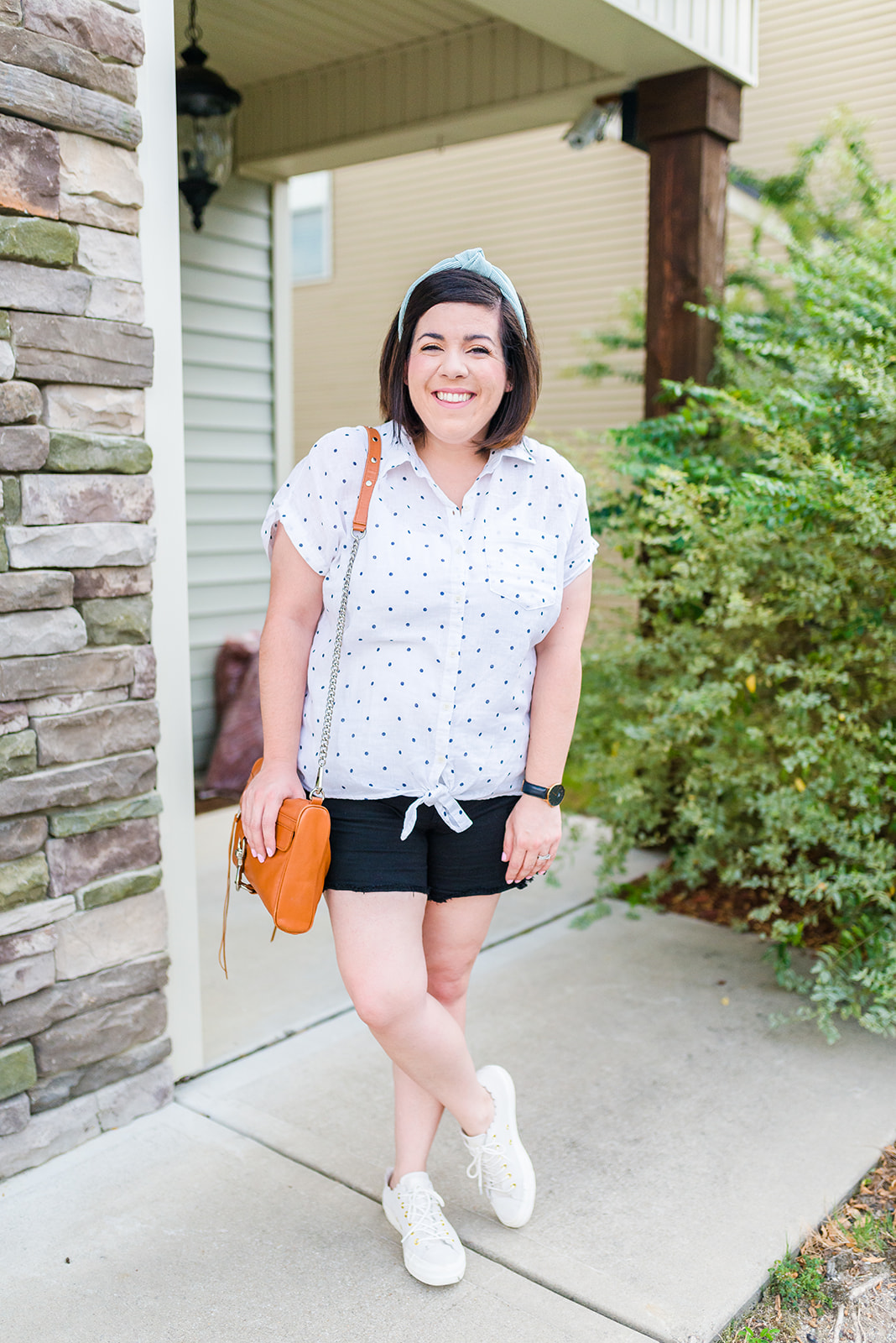 Polka Dot Linen Top for Summer-@headtotoechic-Head to Toe Chic