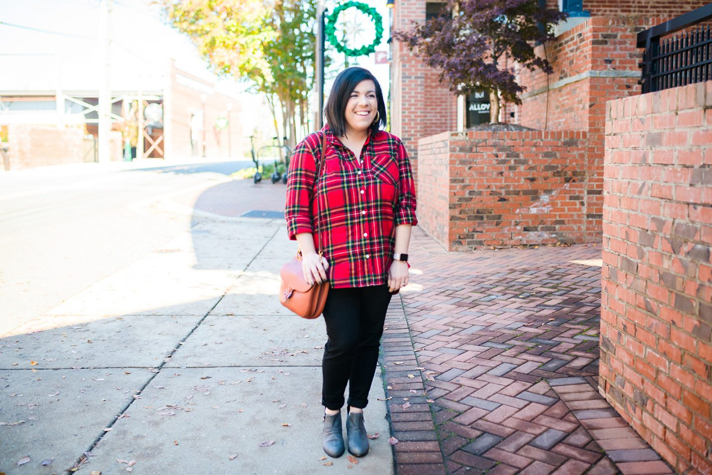 Holiday Plaid Top